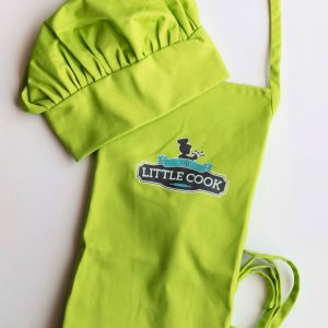 Kids Apron & Chef Hat Bright Green