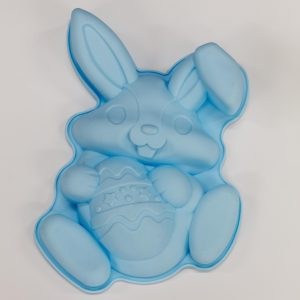 Easter Rabbit Silicone Cake Mould Pastel Blue