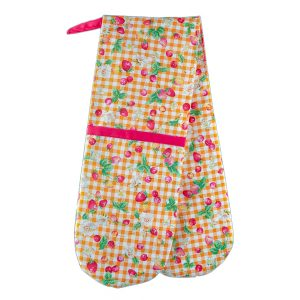 Double Oven Mitt Strawberry Check