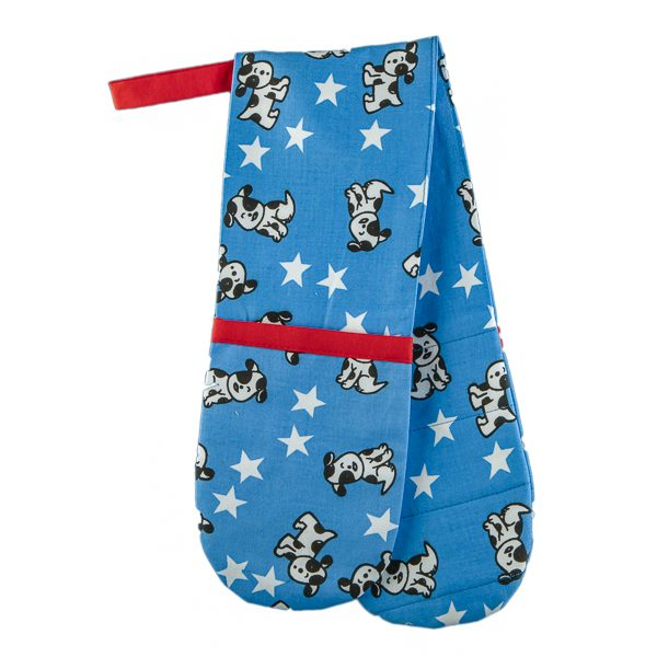 Double Oven Mitt Puppy Dogs