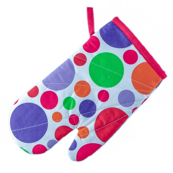 Oven Mitts White and Spot
