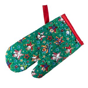 Kids Oven Mitt Christmas Friends