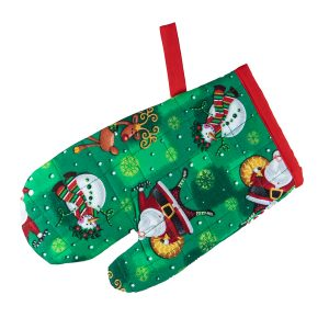 Kids Oven Mitt Santa and Snowman