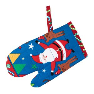 Kids Oven Mitt Jolly Santa
