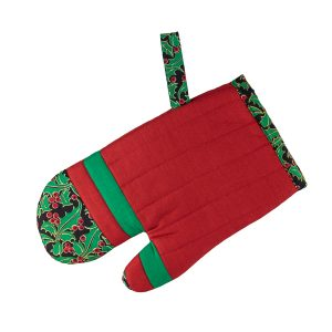Kids Oven Mitt Christmas Holly