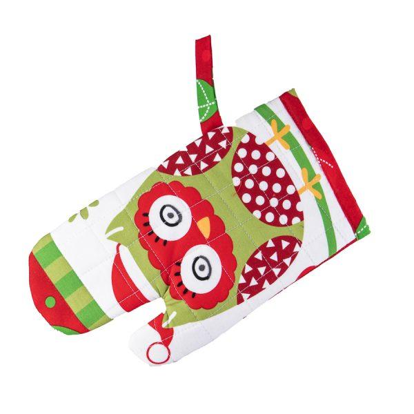 Kids Oven Mitt Christmas Owl