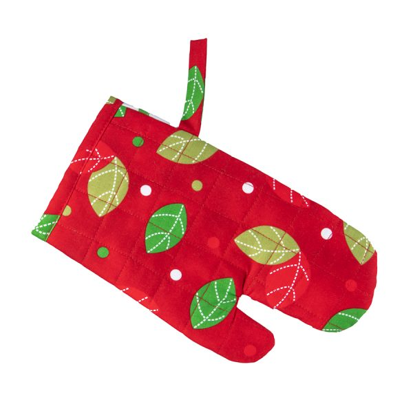 Kids Oven Mitt Christmas Owl back