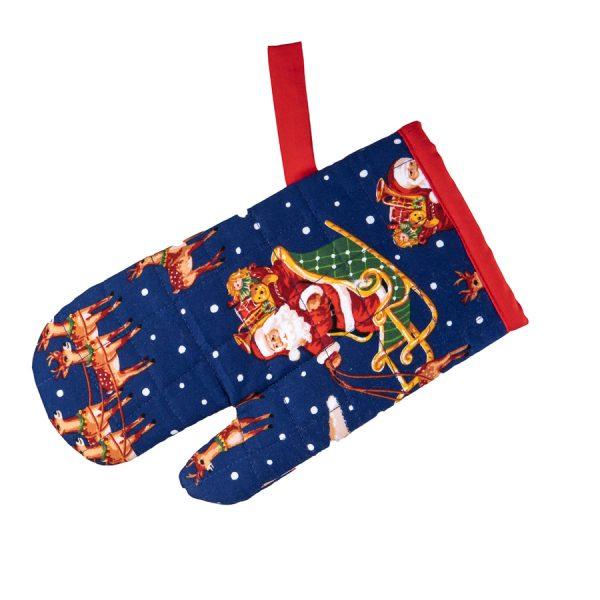 Kids Oven Mitt Christmas Sleigh
