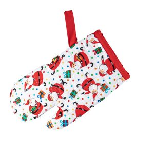 Kids Oven Mitt Santa and presents