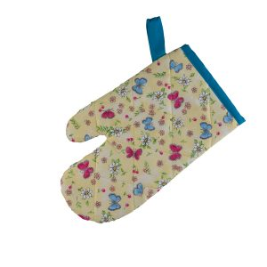 Kids Oven Mitt Butterfly Blue