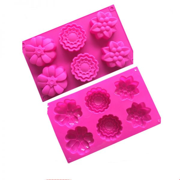 multi flower cake mould