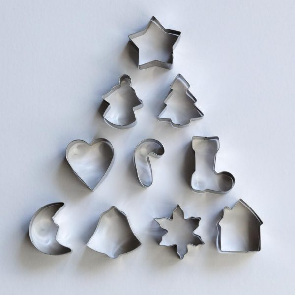 10pc Christmas Cookie Cutters