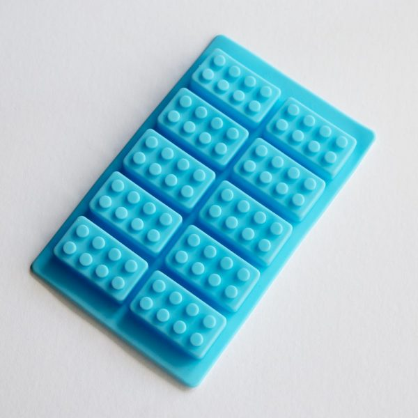 Lego bricks blue mould