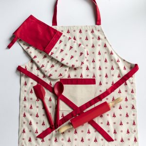Apron and Double Oven Christmas tree and snowflake